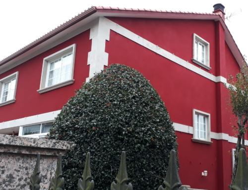 Reforma de cubierta con revestimiento de corcho en fachadas